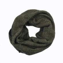 Unisex Winter Diamond Printing Heavy Knitted Loop Snood (SK179)
